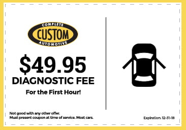 Custom Complete Automotive diagnostic coupon