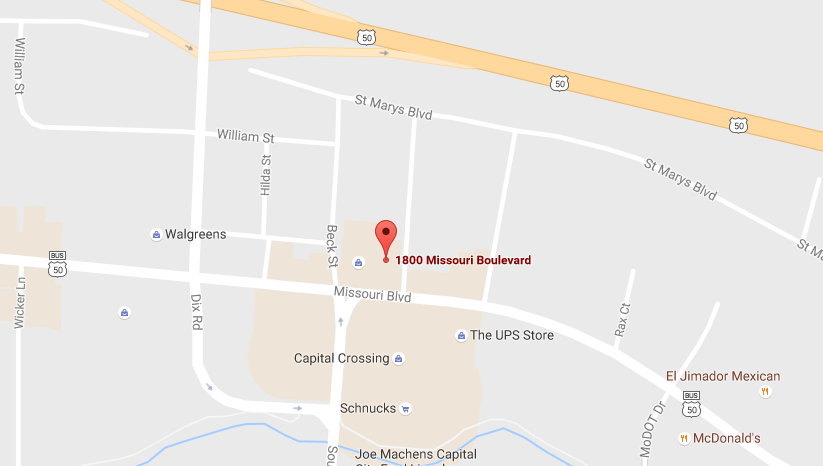 Map of Missouri Boulevard location