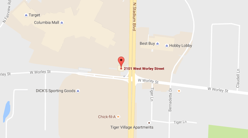 Map of West Worley Street location
