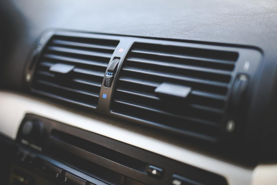 repaired air conditioning vents in vehicle