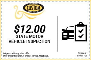 state motor vehicle inspection coupon