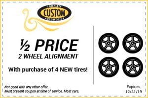 2-wheel alignment coupon