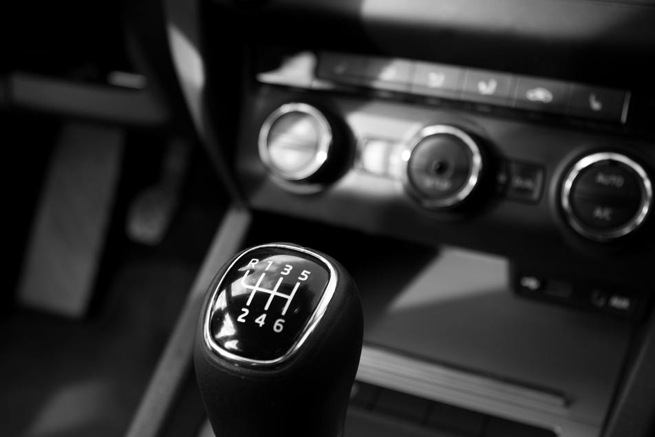 regularly maintained manual transmission in car