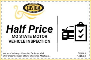 half price MO state motor vehicle inspection