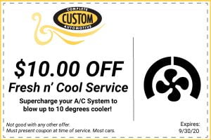 Fresh and Cool Service Coupon