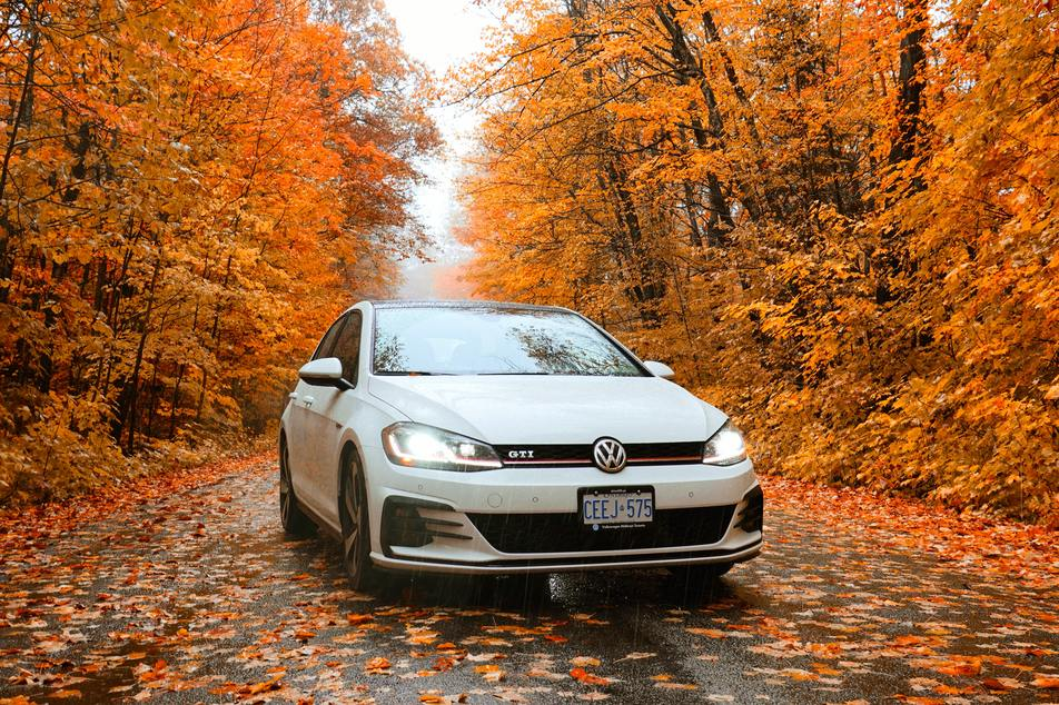car prepared for cold weather due to fall maintenance