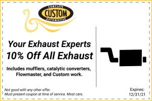 10% off exhaust coupone
