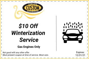 $10 Off Winterization Coupon
