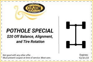 pothole special coupon