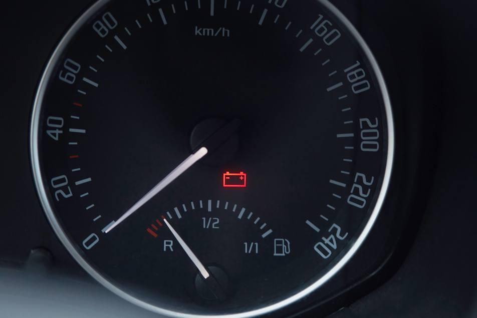 car battery light on in car